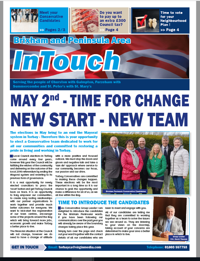 Brixham Conservatives Campaign Newspaper
